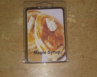 Maple syrup wax melts