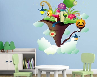 kcik7 Full Color fairy house cloud magic child's room