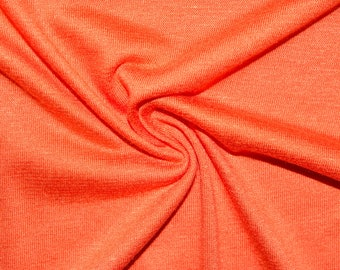 "Orange #10 Jersey Knit Rayon Spandex Lycra Stretch Apparel Craft Fabric Photography 58""-60"" Wide By The Yard"