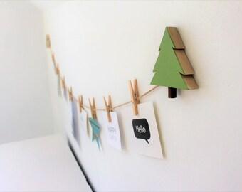 Tree Art Display Line, Tree Picture line, Woodland Kids Decor, Wilderness, Nature, Baby Nursery, Woodland Nursery, Evergreen, Pine tree