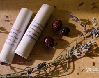 Lavender Rose Hip Lip Balm -  To nourish, condition and softens lips - Winter is coming!