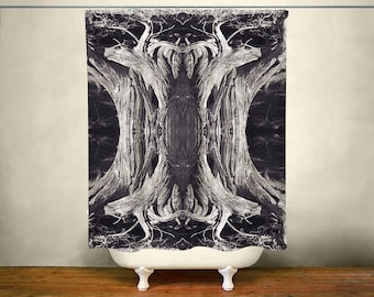 Superieur Tree Roots Shower Curtain, Black And White Decor, Gothic Theme Bathroom,  Heavy Metal, Tree Roots, Goth Decor, Halloween Decorations