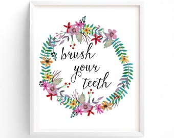 Brush Your Teeth Printable
