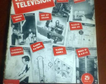 Early mid-century (c.1940) December, 1940 issue of Radio & Television magazine published in the USA by Hugo Gernsback. Complete.