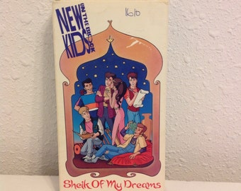 NKOTB Video, Sheik of my Dreams, New Kids on the Block Cartoon Video Tape, New Kids on the Block TV show
