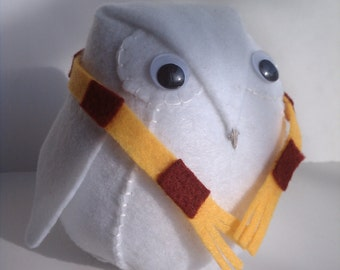 Snow Owl with scarf - Hedwig inspired plush