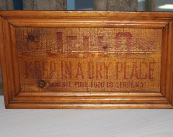 Antique Framed Crate Panel
