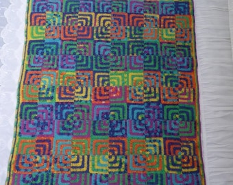 Crochet Pattern-Crochet Blanket,Afgan Throw Like Quilt by ASmartPattern-PDF file-pattern #8