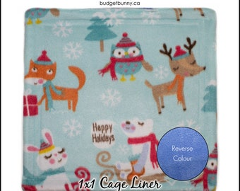 Holiday Reversible 1x1 Cage Liner - Rabbits, Guinea Pigs, Hedgehogs, Cats & Small Animals