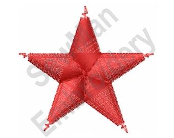 Star - Machine Embroidery Design