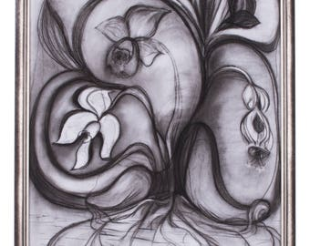 """8.""""Capture"""" 50/70 sm; charcoal on paper"""