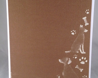 Set of 5 Dogs and Paws CLASSIC Animal Cards