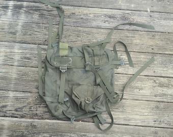 Korean Army Korean Navy Korean Marines Rucksack Backpack Haversack Korean Backpack OD Green Militaria Military Surplus Military Issue