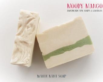 No16. Handmade 'WHITE MINT'  Soap