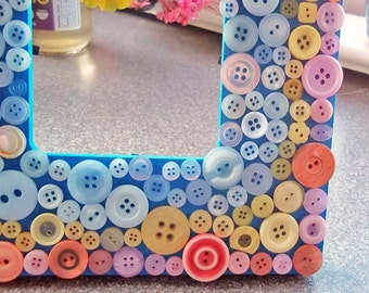 Mosaic Button Picture Frame