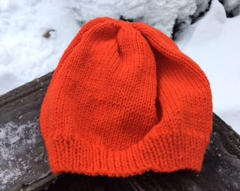 Red Slouchy Knit Hat