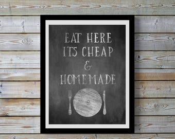 Kitchen art,Chalkboard effect,quote,funny,kitchen decor,black & white, digital print,kitchen, wall art,humorous,gift for home,women,kitchen