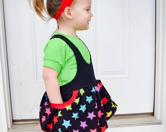 Jammin Jumper Bubble Skirt and Pants PDF Sewing Pattern Sizes Preemie- girls 14