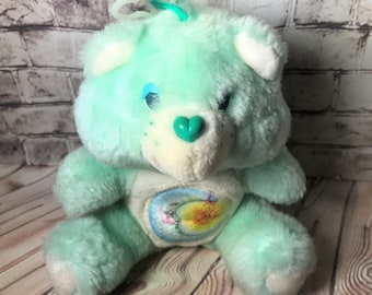 Vintage Care Bear Mini Plush Bedtime Bear by Kenner 1980s Toy