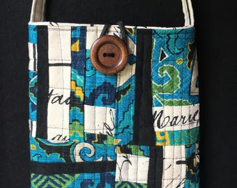 Improv Modern Abstract Art Quilted Crossbody Bag