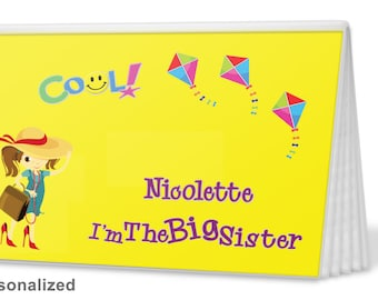 Brag Book - Big Sister in Yellow - I'm The Sister Brag Book - Photo Album -  Big Sister Gift