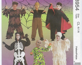 McCalls 8954 - CHILDS Scary Costumes / Size 6, 7, 8