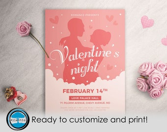 Valentine's Night Flyer Ready to customize and Print!