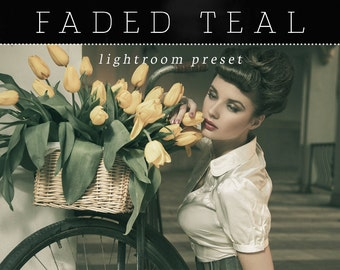 Faded Teal Lightroom Preset - Single Preset - Adobe Lightroom Preset for 4, 5, 6 and CC - Film Lightroom Preset