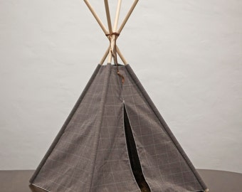 Dog Teepee. Pet Teepee. Cat Teepee. Dog Bed. Dog Tent. Dog House. Cat House. Dog Tipi. Pet Gift. Holiday Gift for Dogs.