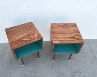 A Pair Of Joilet Side Tables... Mid Century Modern