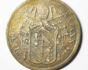 1852 VIR Italian States PAPAL STATES 5 Baiocchi km 1356