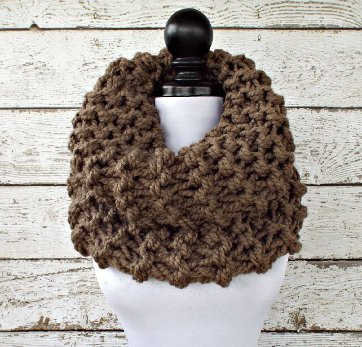 Instant Download Knitting Pattern Knit Cowl Chunky Scarf