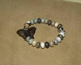 Jasper Butterfly Stretch Bracelet