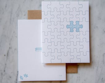 We Just Fit, letterpress love card