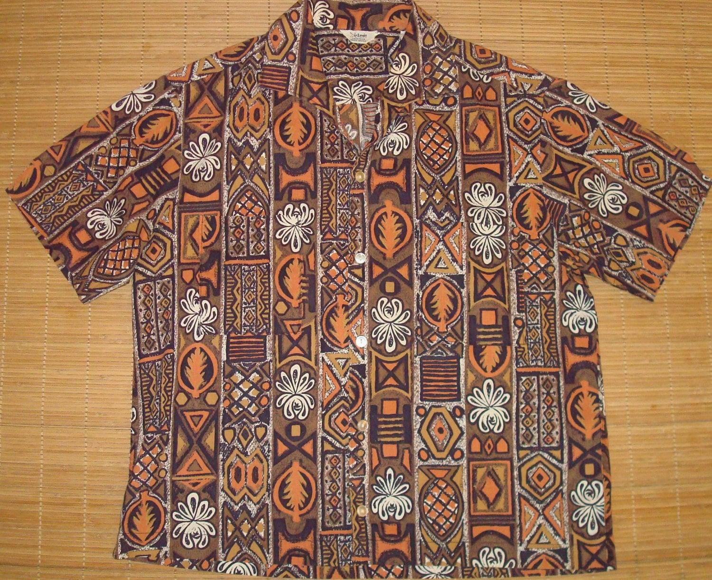 Mens vintage 60s dicasso hawaiian bowling aloha shirt m for The hawaiian shirt company