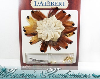 DIY Laliberi™ Feather Brooch / hair clip kit
