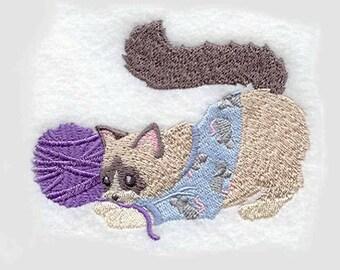 Ragdoll Cat Tea Towel | Cat Lover Gift | Personalized Kitchen | Embroidered Towel | Embroidered Kitchen Towel | Dish Towel | Custom Towel