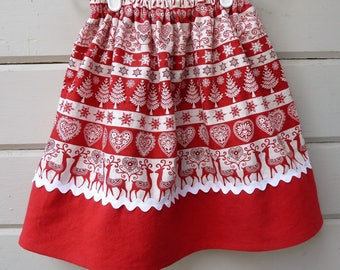 Girls Scandinavian Style Skirt for the Winter Holidays Ready to Ship in size 3T