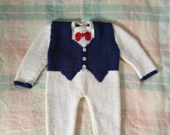 Tuxedo bébé tricotés à la main