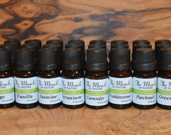 Set of 20 Bottles Essential Oils Pure Natural Aromatherapy Massage 10ml 0.33oz Choose any 20 oils from the list