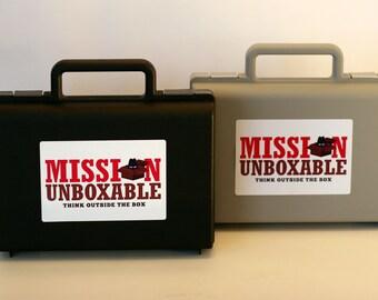 Mission Unboxable Spy Case, Secret Agent Briefcase, Black Briefcase, Silver Briefcase, Spy Party, Mystery Party, Spy Gear, Spy Favor Boxes