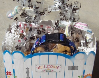 Gourmet Dog Treats - Welcome Home Gift Basket - Dog Treats Organic All Natural Gourmet Vegetarian - Shorty's Gourmet Treats