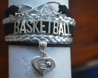 Basketball Gift - Basketball Bracelet – Basketball Gift - Perfect for Basketball Players, Basketball Coaches & Basketball Team Gifts