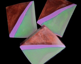Opal Ice, Violet, and Chestnut Sea Glass in Glycerin & Shea Butter Soap