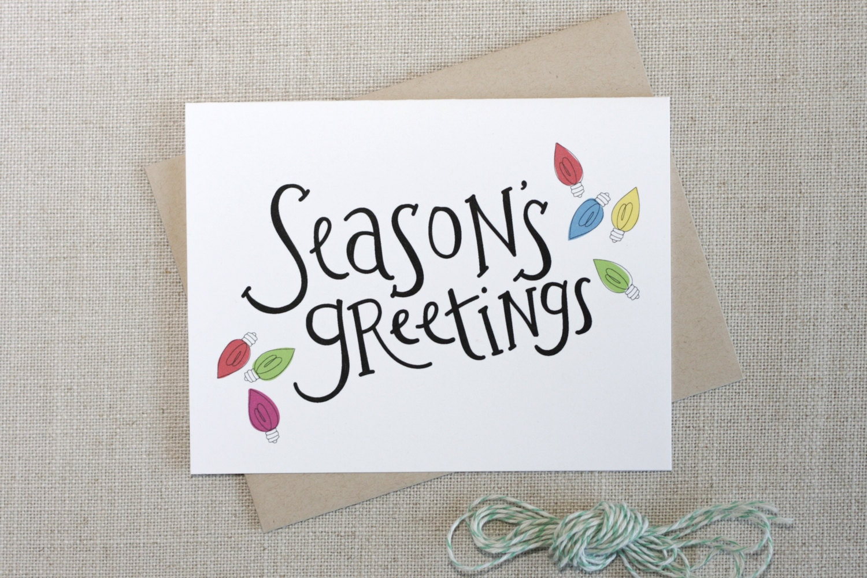Seasons greetings christmas lights holiday card fun zoom kristyandbryce Images