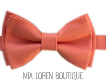 Salmon Bow Tie, Light Coral Bow Tie, Adult & Children, Made in the USA, Use code TENOFF5 at checkout for 10% off 5 or more!