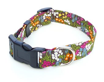 Dog Collar - Forest Flowers