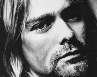 Kurt Cobain A2 Drawing