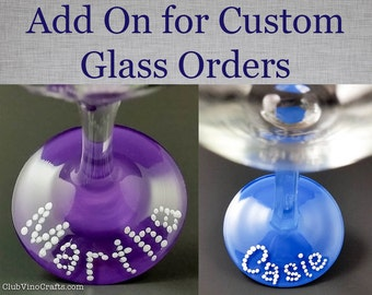 Add Name Personalization to Your Custom Glass Order