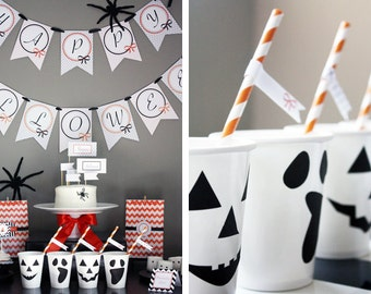 Instant Download - Halloween Party Printables